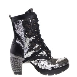 new rock dames veterboots plato zilver