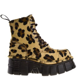 new rock dames platform veterboot leopard