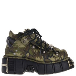new rock dames veterboots plato groen