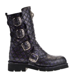 new rock dames bikerboots paars