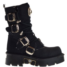 new rock dames bikerboots zwart