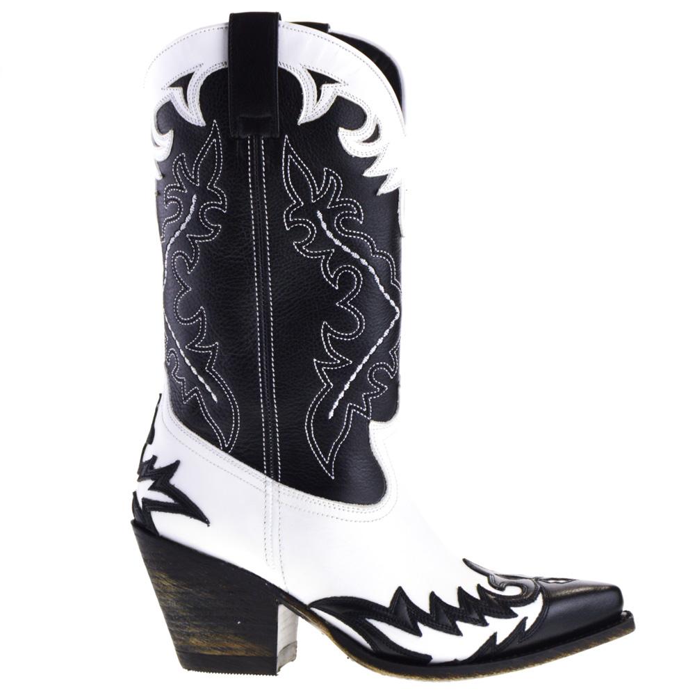 Sendra Cowboy Boots White for Women