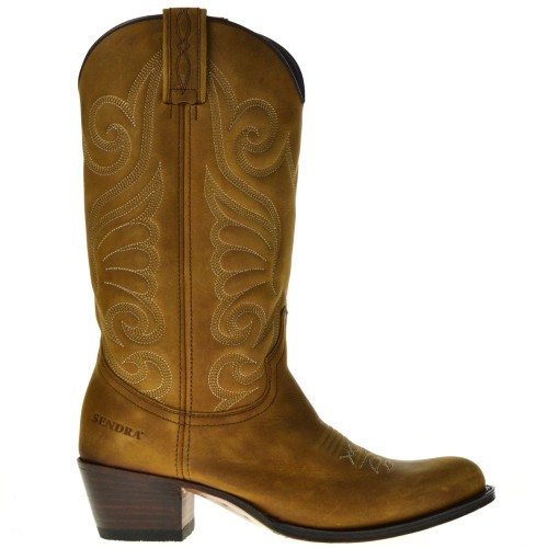 sendra cowboy boots cognac for women