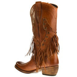 Sancho Dames Cowboy Laarzen in Naturel online kopen