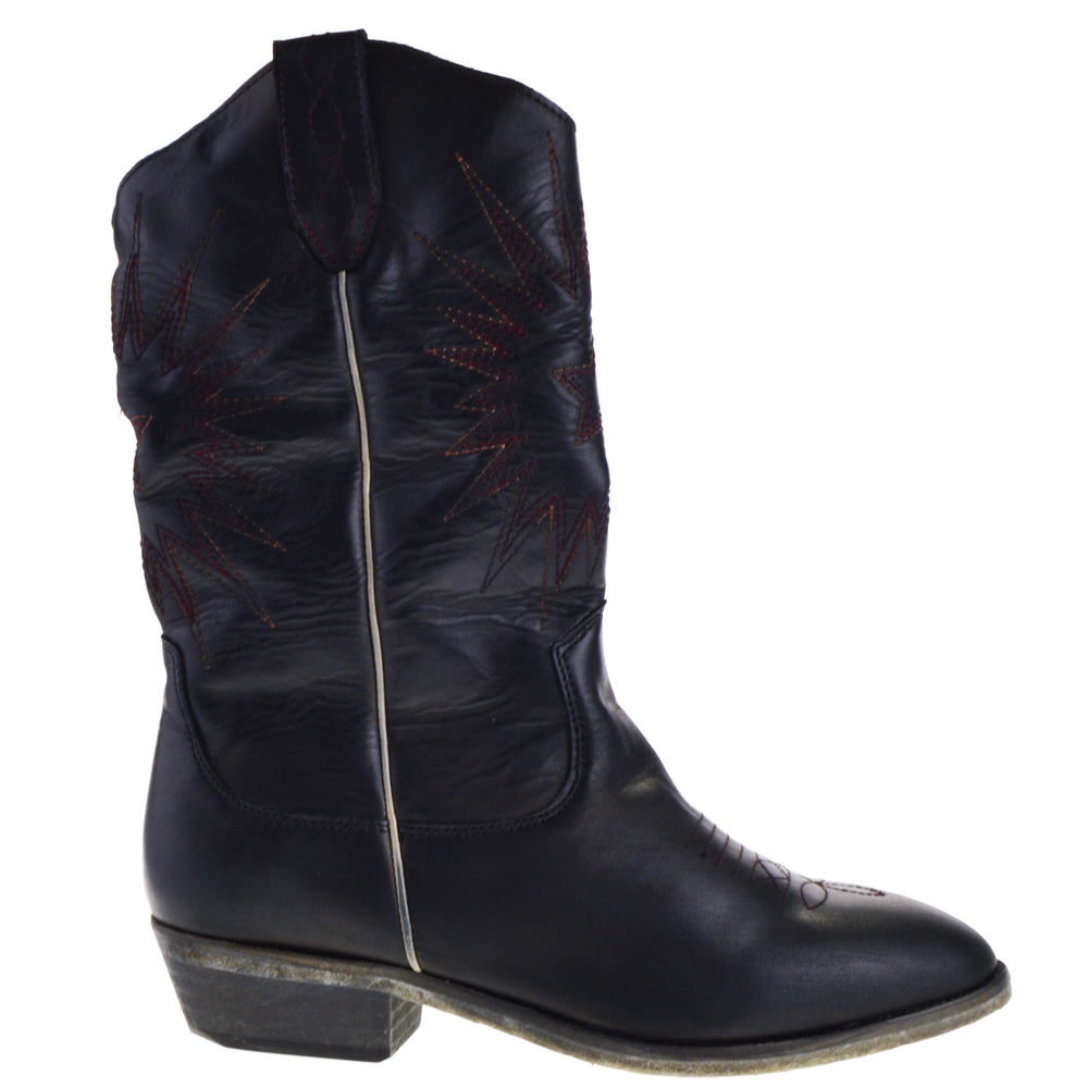 Catarina Martins Western Boots Black for Women