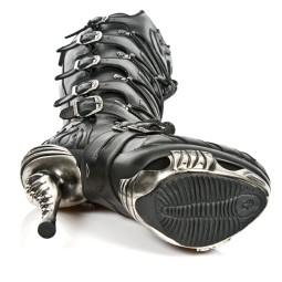 new rock dames laarzen op plateau zwart 19 zwart combi