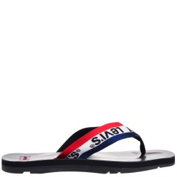 levi's heren slippers zwart