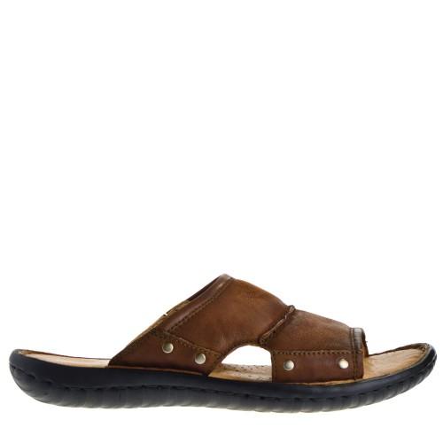 cdb7321f6652e0 mjus heren slippers bruin 61 bruin leer Direct leverbaar uit de webshop van  www.taft.nl/
