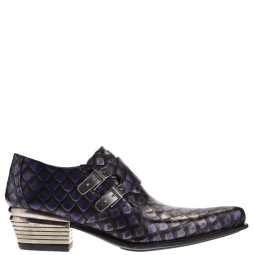 new rock heren loafers zwart combi
