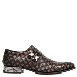 new rock heren loafers rood