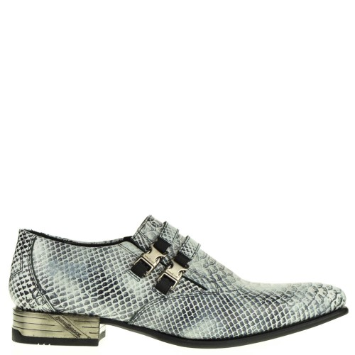 new rock heren loafers wit pythonprint 38 wit reptiel/croco Direct leverbaar uit de webshop van www.taft.nl/