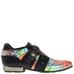 new rock heren loafers multi-zwart