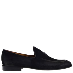 Conhpol Moccasins Black Suede for Men