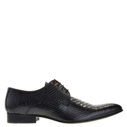 taft shoes heren veterschoenen zwart snake