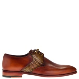 royal noble shoes heren veterschoenen rood combi