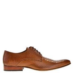 taft shoes heren veterschoenen cognac snake