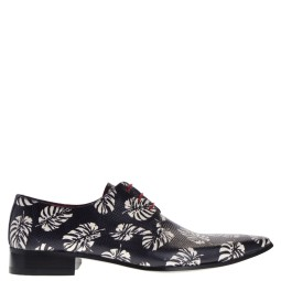 men of global  heren riemen zwart flower