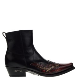 sendra boots heren western boots rood/python