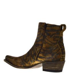 sendra boots heren western boots tijgerprint 79 naturel