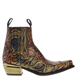 new rock heren western boots goud combi