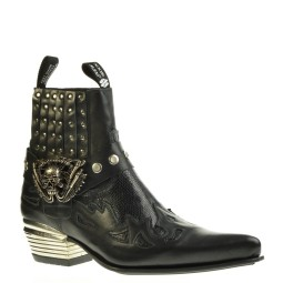 new rock heren western boots zwart