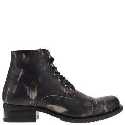 new rock heren halfhoge veterschoen grijs