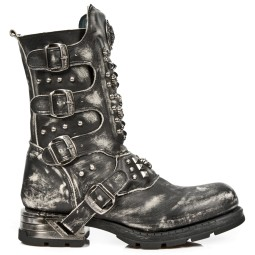 new rock heren bikerboots zwart