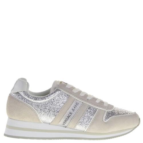 f78fc00ea39 Versace Jeans Sneakers Beige-Silver for Women 05 beige