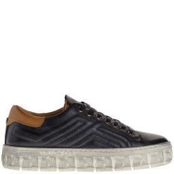 yellow cab dames sneakers zwart
