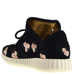SVNTY Flex Fall Flower Dames Sneakers in Zwart online kopen