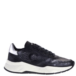 crime london dames sneakers zwart