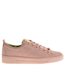 ted baker dames sneakers roze suede