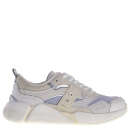 Blauer dames sneakers wit