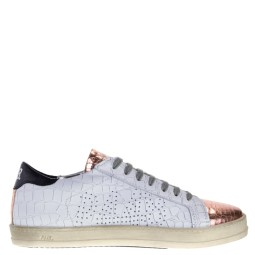p448 dames sneakers wit combi