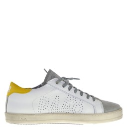 p448 dames sneakers wit geel