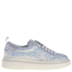 stokton dames sneakers wit glitter