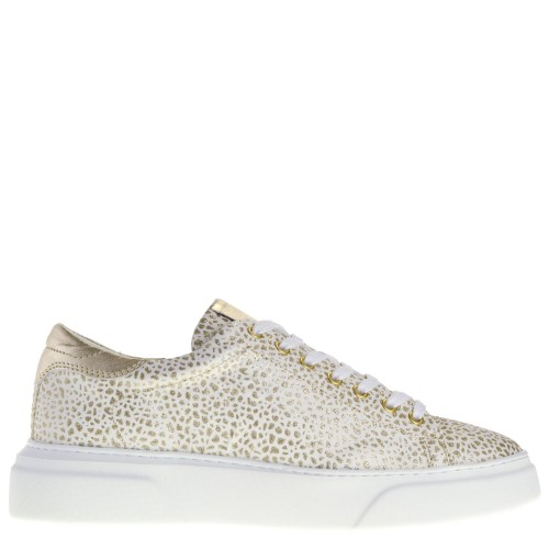 Hip Dames Sneakers in Wit Goud kopen bij Taft Shoes