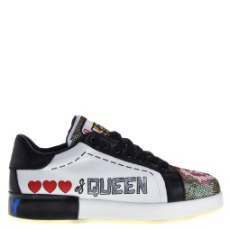 ponche dames sneakers wit zwart