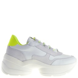 spm dames sneakers wit-geel