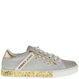 Versace Jeans Sneakers Grey-Gold for Women f6e67a8d911