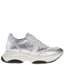 Taft Shoes zilveren platform sneakers