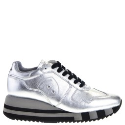 Blauer dames sneakers silver
