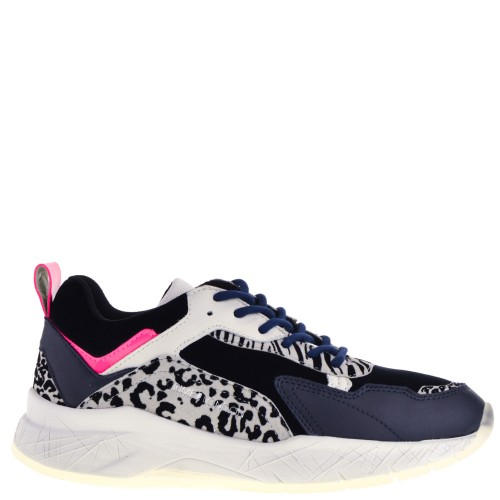Crime London dames sneakers in blauw kopen bij Taft Shoes