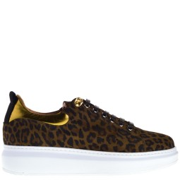 linkkens dames sneakers leopard-gold
