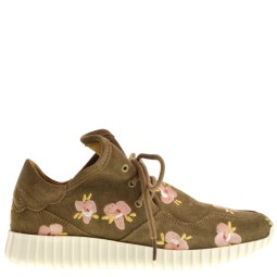 svnty dames sneakers taupe flowers