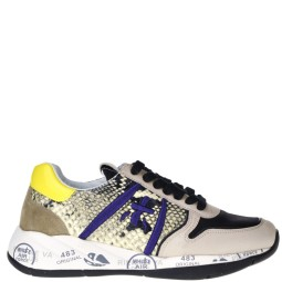 premiata dames sneakers naturel combi
