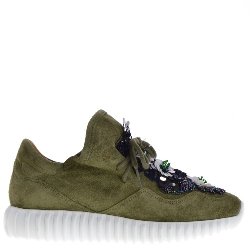sneakers olijfgroen dames