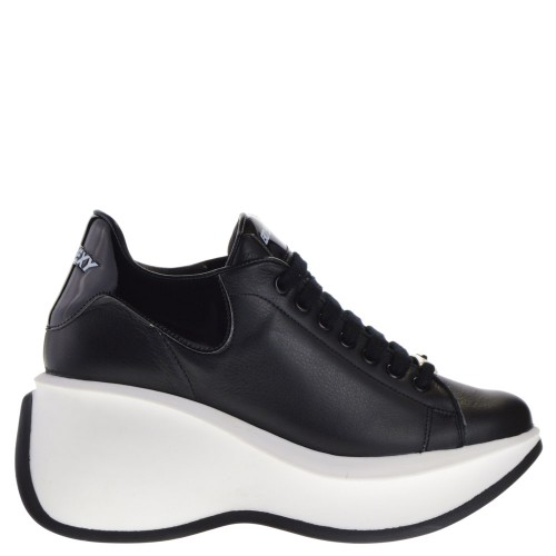 1761d2d19526 GO SEXY WEDGE SNEAKERS BLACK FOR WOMEN