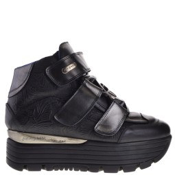 new rock dames plato sneakers zwart