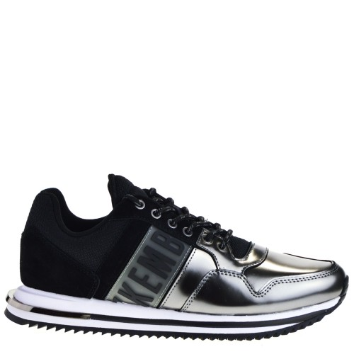 new products 4e383 914c5 BIKKEMBERGS SNEAKERS BLACK-SILVER FOR WOMEN